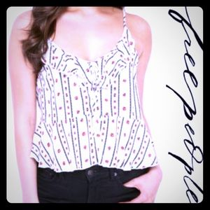 NWT Free People Love to Love 💕 Printed Cami Ivory